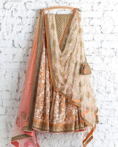 100 Swati Manish lehengas that will make you wish you were getting married today Indian Attire, Indian Ethnic Wear, Indian Dresses, Indian Outfits, Indian Lehenga, Lehenga Choli, Anarkali, Floral Lehenga, Yellow Lehenga