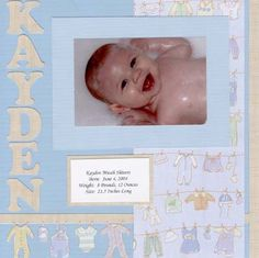 baby boy - Scrapbook Page by Meritte