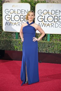 Kate Winslet, wins Supporting Actress honors.  Check out the red carpet style from the biggest awards show (so far) of 2016.