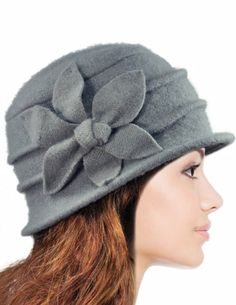 Dahlia Women's Daisy Flower Wool Cloche Bucket Hat - Light Gray Dahlia, To SEE or BUY just CLICK on AMAZON right HERE http://www.amazon.com/dp/B0063VVX1U/ref=cm_sw_r_pi_dp_5F7jtb0N8C4RAJYT