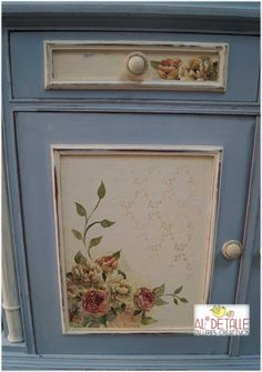 Ideas that improve your life Chalk Paint Furniture, Hand Painted Furniture, Diy Decoupage Projects, Shabby Chic Kitchen, Furniture Makeover, Wood Crafts, Diy Home Decor, Decorative Boxes, Painting
