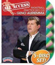 All Access Basketball Practice with Geno Auriemma (2011-2012) (DVD) by Championship Productions. $149.99. with Geno Auriemma, 7x NCAA Women's Basketball National Championship Coach; back-to-back undefeated national championship seasons (2009 and 2010); 8x National Coach of the yeardistinguished member of the Naismith Hall of Fame; over 30 Big East regular season and tournament titles  Take advantage of this unique opportunity to see how seven-time NCAA Championship...