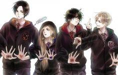 Harry Potter, Draco Malfoy, Harry Potter (character), Cedric Diggory, Luna Lovegood