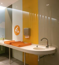 Changing Tables, by Defacto. Changing Room, Changing Tables, Kitchen Furniture, Furniture Design, Lactation Room, Washroom Design, Public Bathrooms, Clinic Design, Space Architecture