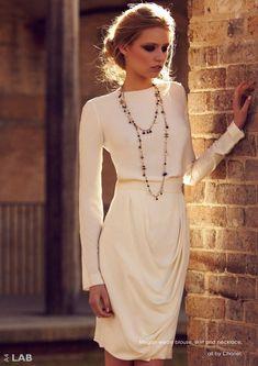 Classy Chanel. Perfect rehearsal dinner dress.