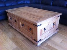 Large Mexican Pine Coffee Table