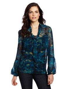 Anne Klein Women's Petite Bow Blouse Anne Klein. $63.35. Snakeskin print. polyester. Machine Wash. Tie at neckline. Made in Canada