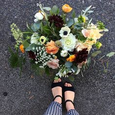 Cute new shoes and a #bouquet too! #smflowers #flowers #flowersofinstagram #northvanflorist #northvan #vancouverowers #vancouverflorist