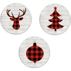 Christmas Decor Buffalo Plaid Deer Plaid Tree Rustic Christmas Wooden... (741.400 IDR) ❤ liked on Polyvore featuring home, home decor, wall art, home & living, home décor, silver, wall décor, wall hangings, wood tree and tree wall art