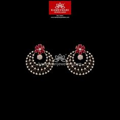 Mesmerizing collection of gold earrings from Kameswari Jewellers. Shop for designer gold earrings, traditional diamond earrings and bridal earrings collections online. Buy Earrings, Bridal Earrings, Bridal Jewellery, Handmade Jewellery, Gold Earrings Designs, Gold Jewellery Design, Designer Jewelry, Diamond Earrings Indian, Diamond Jewelry