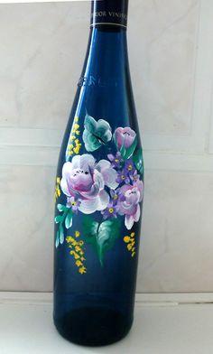Painted bottle. Hazel Lynn.