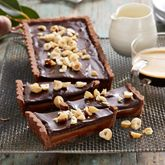 Put your baking hat on and try Curtis Stone's luscious dessert recipe for rich and decadent Chocolate Caramel Tart. Chocolate Caramel Tart, Decadent Chocolate, Chocolate Recipes, Caramel Ganache, Caramel Pie, Chocolate Torte, Delicious Chocolate, Tart Recipes, Sweet Recipes