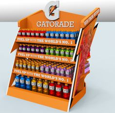 Gatorade MDU (Merchandise Display Unit) by Ezra Arce at Coroflot.com