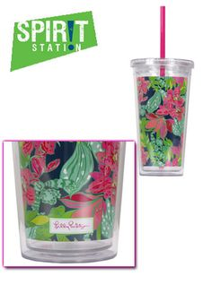 Lilly Pulitzer Acrylic Tumbler With Straw