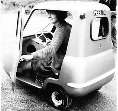 "Smallest ever car to go into mass production was the fascinating ""Peel"" P50 car (you could almost carry it as a suitcase).  Geez, imagine driving this down the road surrounded by giant SUV's .  Yikes!"