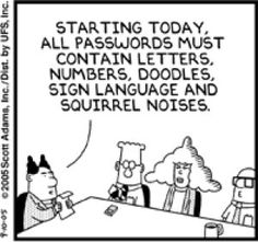 Dilbert on password security