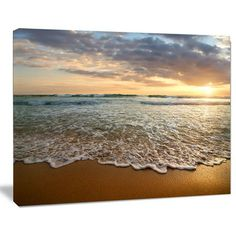 Shop for Bright Cloudy Sunset in Calm Ocean - Contemporary Seascape Art Canvas. Get free delivery On EVERYTHING* Overstock - Your Online Art Gallery Store! Nature Photography Tips, Sunset Photography, Portrait Photography, Wedding Photography, Beach Condo Decor, Seascape Art, Abstract Art, Ocean Sunset, Pastel Art