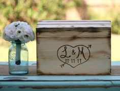 Rustic Card Box Personalized Wedding Engraved Wood (item Number 140232)