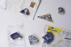 broken pottery fridge magnets - inspired!