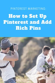 How to set up your Pinterest and add Rich Pins! - - - - #richpins #wedding #photography #dailyphoto #dailypic #theknot #weddingphoto #photographer #marketing #weddingmarketing Wedding Photography Marketing, Photography Business, Creating A Business, Daily Photo, Profile Photo, Pinterest Account, Pinterest Marketing, Web Development, Wedding Photos