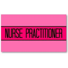Nurse Practitioner Baby and Hot Pink Business Card