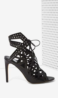 Cut out studded heels
