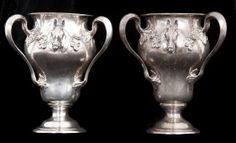 PAIR OF AMERICAN STERLING SILVER HORSE TROPHIES