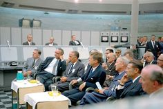John F. Kennedy, Lyndon Johnson, and staffers tour Cape Canaveral Missile Test Annex, Sept 1962.