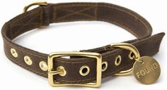 Brown Waxed Canvas Dog Collar by Found My Animal . Made from reclaimed and recycled materials. Brown Canvas, Waxed Canvas, Pet Dogs, Pets, Collar Designs, Mini Schnauzer, Leather Collar, Pet Accessories, My Animal