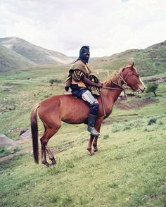 Basotho and their horses  Horses first arrived in Southern Africa in 1653 and have since been utilized by the people of Lesotho to get around the rough terrain of their mountainous country.  Today though, these horses are known as the Basotho Ponies.
