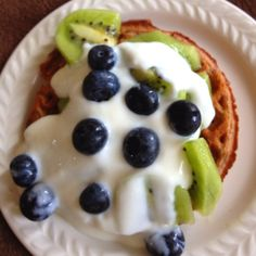 ab16a1430a Van s protein waffle with Greek yogurt and fresh fruit