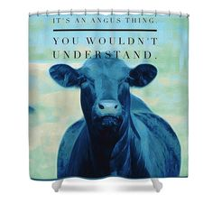 It's An Angus Thing Shower Curtain for Sale by Michele Carter