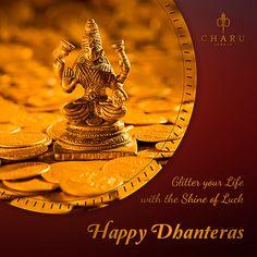 Happy Dhanteras from Charu Jewels Happy Dhanteras, Advertisement Images, Bedroom Cupboard Designs, Diwali Wishes, Fine Jewelry, Jewellery, Diamond Jewelry, Festive, Spirituality