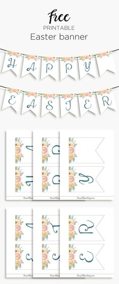 free printable, easy easter banner, printable easter banner, printable banner, free downloadables