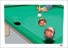 Sinuca...Cunha x Dilma... em jogo  político.!...