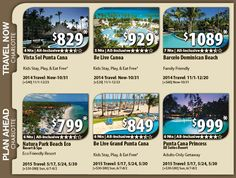 Punta Cana Vacation Specials with Air from Charlotte Last Minute Fall Packages from $829 pp 2015 Early booking Packages from $799 pp For Details Contact http://taylormadetravel.agentarc.com  taylormadetravel142@gmail.com  call 828-475-6227