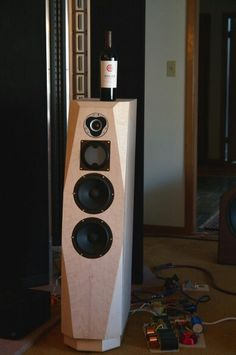 I do not like any wine, and especially not one on top of a very neat loudspeaker!