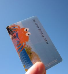"Tim Hopgood ""Tip Tap Went The Crab"" library card"