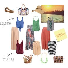 """Beach Vacation - Maxis Day and Night"" by lookitsnotthatimportant on Polyvore"