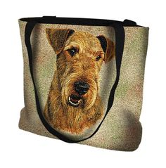 Pure Country Weavers Airedale Terrier Travel Tote Bag