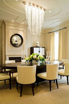 Repeated Oval Details in this Dining Room