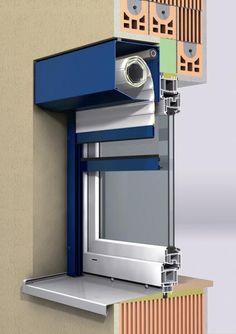 Image result for rolety zewnętrzne widok puszki od środka