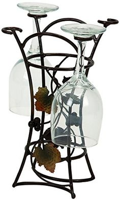 Wine Racks - Deco 79 Metal Wine Glass Rack 10 by 7Inch * You can find more details by visiting the image link.