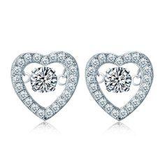 YL Dancing Diamond Sterling Silver 4mm 0.49ct Heart Stud ... http://www.amazon.com/dp/B01G24FS1S/ref=cm_sw_r_pi_dp_uzxtxb13YK8YV