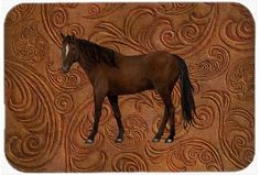 Horse Mouse Pad, Hot Pad or Trivet SB3066MP, Multi