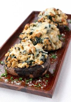These Chicken Marsala Portobello Mushrooms are a tasty low carb dinner the whole family will love! This healthy recipe is on the table in less than Healthy Low Carb Recipes, Low Carb Dinner Recipes, Healthy Eating Tips, Cooking Recipes, Cooking Tips, Primal Recipes, Paleo Meals, Paleo Food, Healthy Nutrition
