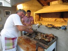 Watch the local Croatian Chefs prepare your meal ...