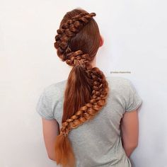 Snake Braid With Ponytail ❤  #lovehairstyles #hair #hairstyles #haircuts