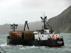 F/V Wizard heading out to start the 2012 king crab season.