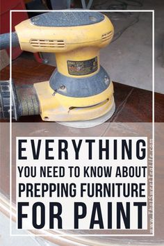 Do you need to prep before you paint? - Do you need to prep before you paint? Peggy Boles peggyboles Craft Room Ideas Everything you need to know about prepping furniture before you paint! Refurbished Furniture, Upcycled Furniture, Reclaimed Furniture, Industrial Furniture, Furniture Vintage, Vintage Industrial, Sand Painting, Diy Painting, House Painting